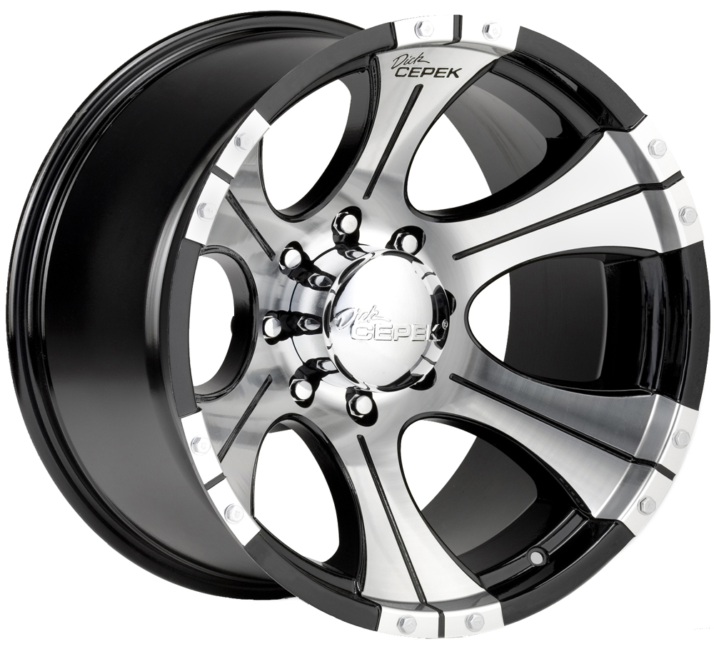 Bwt Dick Cepek Dc 1 Black Machined Wheels Rims