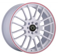 Konig Twilite (White w/ Red Stripe)