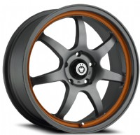 Konig Forward (Matte Grey w/ Orange Stripe)